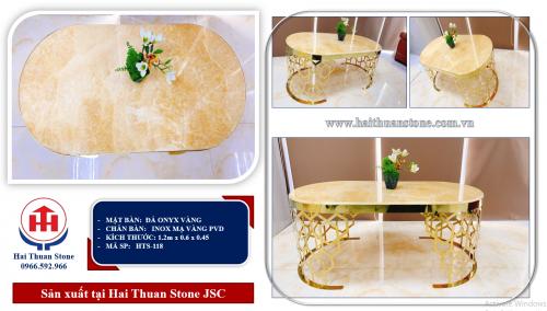 Bàn trà mặt đá HTS-118