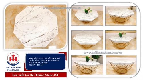 Bàn trà mặt đá HTS-114
