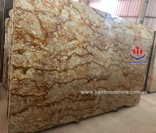 Đá Granite Vàng Brazil Vân Da Hổ