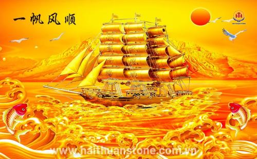 Tranh Đá Phong Thủy Kim Tiền HTS 010