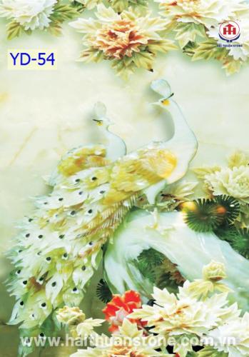 Tranh Đá Khổng Tước HTSJ 006